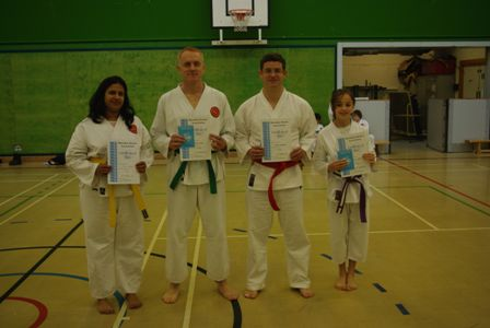 New Adult Green and Blue Belts and Junior Brown Belt