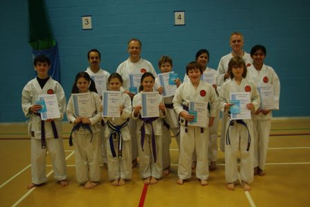 New Adult and Junior Blue to Purple/White Belts
