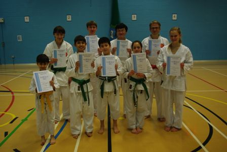 New Adult and Junior Orange to Blue Belts