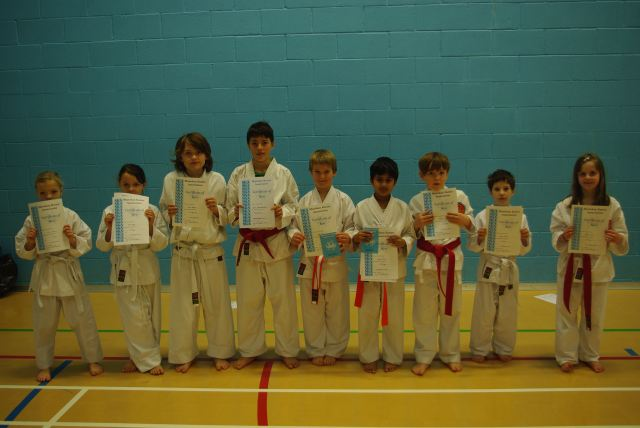 New Junior Red to Yellow Belts