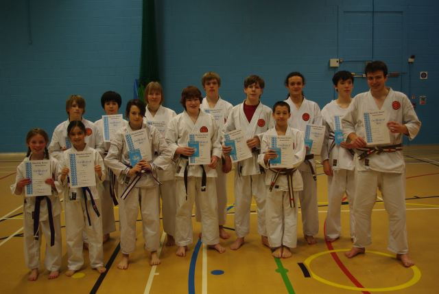 New Adult and Junior Purple/White to Red/White Belts