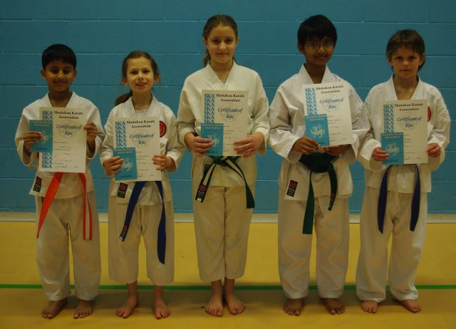 New Junior Yellow to Purple Belts