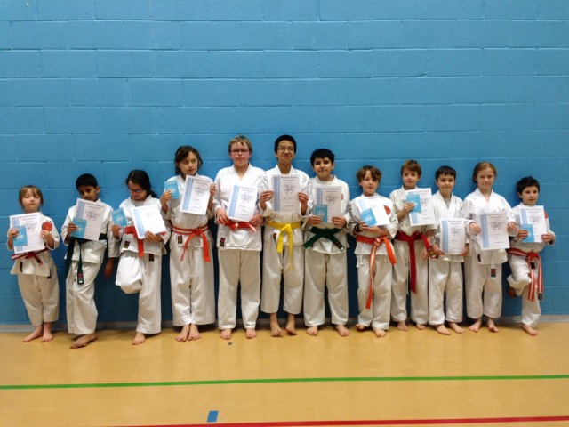 New Junior Red to Green/White Belts
