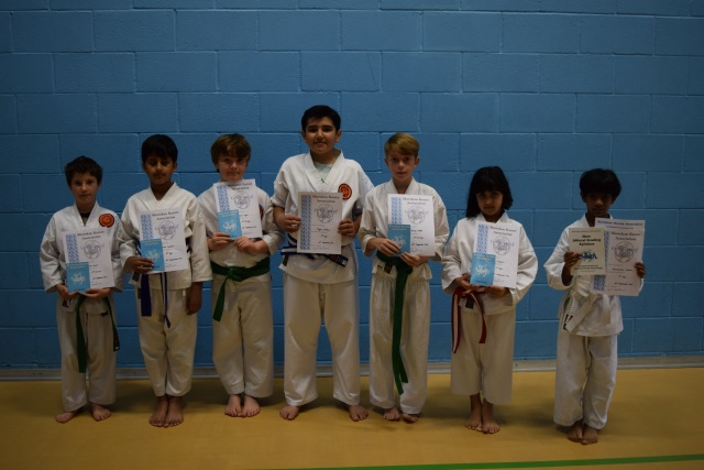 New Junior Orange to Purple Belts