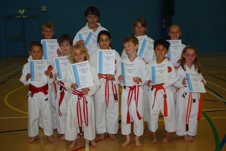 New Junior Red, Orange and Yellow Belts