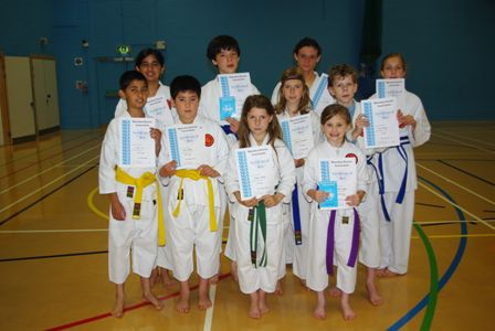 New Junior Green to Purple Belts